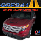 2011-2015 Ford Explorer Reactor Center Hood Vinyl Stripe Kit (M-GRF241)