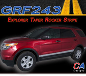 2011-2015 Ford Explorer Taper Rocker Stripe Vinyl Stripe Kit (M-GRF243)