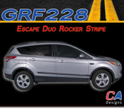 2011-2015 Ford Escape Duo Rocker Vinyl Stripe Kit (M-GRF228)