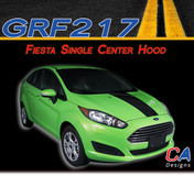 2014-2015 Ford Fiesta Single Center Hood Vinyl Stripe Kit (M-GRF217)