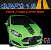 2014-2015 Ford Fiesta Strobe Single Center Hood Vinyl Stripe Kit (M-GRF218)