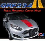 2014-2015 Ford Fiesta Hatchback Single Center Hood Vinyl Stripe Kit (M-GRF234)