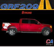 2009-2014 Ford F-150 Stroke Vinyl Stripe Kit (M-GRF209)