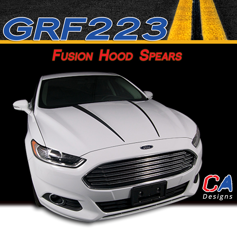 FORD FUSION Hood Accent Side Spear Stripes Decals 2013 2014 2015 2016