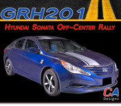 2009-2014 Hyundai Sonata Off Center Rally Vinyl Stripe Kit (M-GRH201)