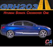 2009-2014 Hyundai Sonata Crossover One Rocker Vinyl Stripe Kit (M-GRH203)
