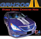 2009-2014 Hyundai Sonata Crossover Hood Vinyl Stripe Kit (M-GRH206)