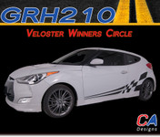 2011-2015 Hyundai Veloster Winners Circle Vinyl Stripe Kit (M-GRH210)