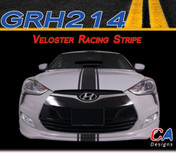 2011-2015 Hyundai Veloster Racing Vinyl Stripe Kit (M-GRH214)
