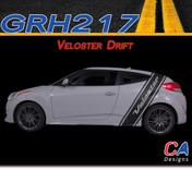 2011-2015 Hyundai Veloster Drift Vinyl Stripe Kit (M-GRH217)