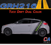 2011-2015 Hyundai Veloster Tuco Drift Dual Color Vinyl Stripe Kit (M-GRH216)