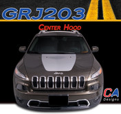2015 Jeep Cherokee Center Hood Vinyl Stripe Kit (M-GRJ203)