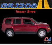 2007-2015 Jeep Patriot Hockey Vinyl Stripe Kit (M-GRJ206)