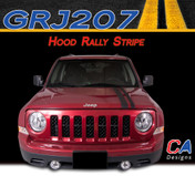 2007-2015 Jeep Patriot Hood Rally Vinyl Stripe Kit (M-GRJ207)