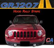 2007-2015 Jeep Patriot Hood Rally Vinyl Stripe Kit (M-GRJ207)