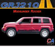 2007-2015 Jeep Patriot Mudslinger Rocker Vinyl Stripe Kit (M-GRJ210)
