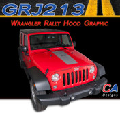 2007-2017  Jeep Wrangler Rally Hood Vinyl Graphic Stripe Package (M-GRJ213)
