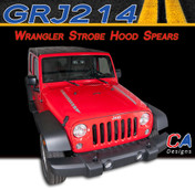 2007-2017 Jeep Wrangler Hood Spears Vinyl Graphic Stripe Package (M-GRJ214)