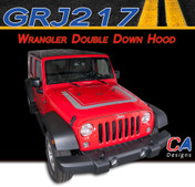2007-2017 Jeep Wrangler Double Down Hood Vinyl Graphic Stripe Package (M-GRJ217)