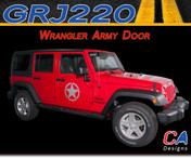 2007-2018 Jeep Wrangler Army Door Vinyl Graphic Stripe Package (M-GRJ220)