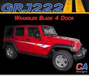 2007-2018 Jeep Wrangler Blade Four Door Vinyl Graphic Stripe Package (M-GRJ222)