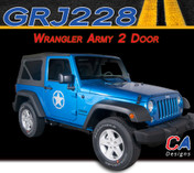 2007-2018 Jeep Wrangler Army Two Door Vinyl Graphic Stripe Package (M-GRJ228)