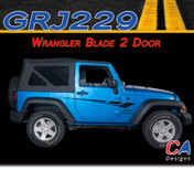 2007-2018  Jeep Wrangler Blade Two Door Vinyl Graphic Stripe Package (M-GRJ229)