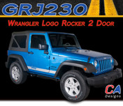 2007-2018 Jeep Wrangler Logo Rocker Two Door Vinyl Graphic Stripe Package (M-GRJ230)