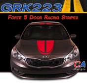 2014-2015 Kia Forte 5 Door Boomerang Racing Vinyl Racing Stripe Kit (GRK223)