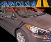 2014-2015 Kia Forte 5 Door Vent Vinyl Racing Stripe Kit (M-GRK228)