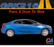 2014-2015 Kia Forte 2 Door Tr- Wave Vinyl Racing Stripe Kit (M-GRK216)