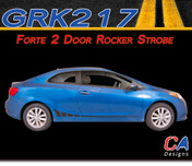 2014-2015 Kia Forte 2 Door Rocker Strobe Vinyl Racing Stripe Kit (M-GRK217)