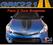 2014-2015 Kia Forte 2 Door Boomerang Vinyl Racing Stripe Kit (M-GRK221)