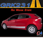 2011-2015 Kia Rio Wedge Vinyl Racing Stripe Kit (M-GRK231)