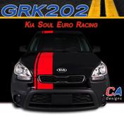 2010-2013 Kia Soul Euro Racing Vinyl Racing Stripe Kit (M-GRK202)