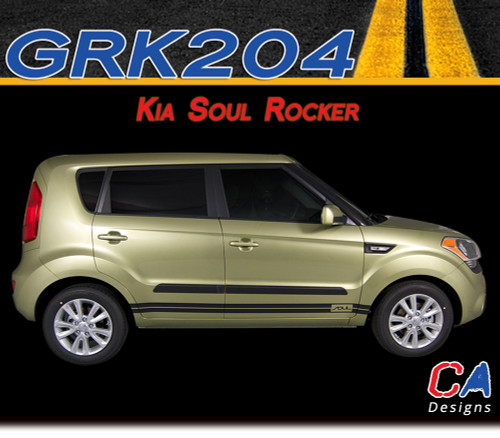 2010-2015 Kia Soul Rocker Vinyl Racing Stripe Kit (M-GRK204)
