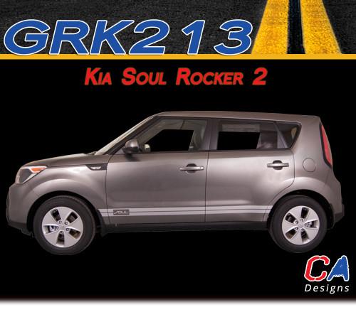 2010 2015 Kia Soul Rocker 2 Vinyl Racing Stripe Kit