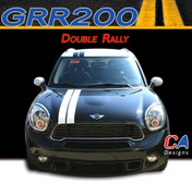 Mini Cooper Double Rally Vinyl Racing Stripe Kit (M-GRR200)