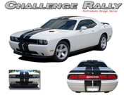 Challenger RALLY : Vinyl Graphics Racing Stripes Kit 2008 2009 2010 2011 2012 2013 2014 Dodge Challenger