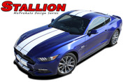 """STALLION : Ford Mustang Lemans Style Racing and Rally Stripes Vinyl Graphics Kit! * NEW Vinyl Graphics Kit for the 2015 Ford Mustang! Factory Style Racing Stripes and Rally Kit, featuring Premium Grade Vinyl. The """"look"""" without the factory cost! Update your New Mustang today and start heads turning!"""
