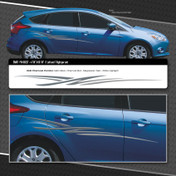 BOLT : Automotive Vinyl Graphics Shown on Small Compact Hatchback Car (M-09227)