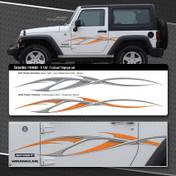 SERPENTINE : Automotive Vinyl Graphics Shown on Jeep Wranger (M-08300)