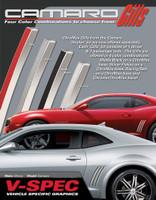 CAMARO CHROMAX GILL STRIPES : Automotive Chrome Vinyl Graphics Shown on Chevy Camaro (M-VS202)
