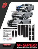 CAMARO VSPEC RALLY STRIPE : Automotive Vinyl Graphics Shown on 2014-2015 Chevy Camaro (M-V165.164)