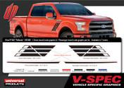 FORD F-150 TRIFECTA KIT : Automotive Vinyl Graphics Shown on 2009-2014 Ford F-150 (M-VS160)