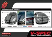 DODGE DART E-RALLY KIT : Automotive Vinyl Graphics Shown on 2010-2015 Dodge Dart (M-VS150)