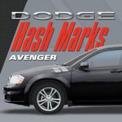 DODGE AVENGER HASH MARKS KIT : Automotive Vinyl Graphics Shown on 2008-2014 Dodge Avenger (M-VS154)