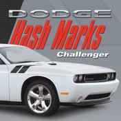 DODGE CHALLENGER HASH MARKS KIT : Automotive Vinyl Graphics Shown on 2008-2014 Dodge Challenger (M-VS153)