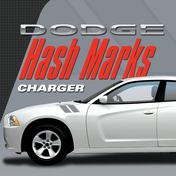 DODGE CHARGER HASH MARKS KIT : Automotive Vinyl Graphics Shown on 2011-2014 Dodge Charger (M-VS156)