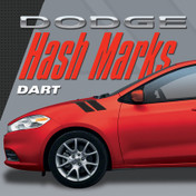 DODGE DART HASH MARKS KIT : Automotive Vinyl Graphics Shown on 2010-2015 Dodge Dart (M-VS155)